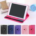 360 Rotating Stand Smart Rubber and Leather Case Cover For iPad Air 2 [Rose]