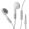 IN-EAR EARPHONE WITH MIC for Phone [White]