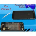 iPhone 5 Housing with charging port and power volume flex cable  [Black]