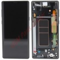 Samsung Galaxy Note 9 LCD and Touch Screen Assembly with frame [Midnight Black]