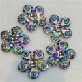 Rainbow Five Flower Leaves  Fidget Spinner, Metal