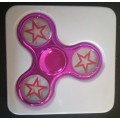 Electroplated Fidget Spinner Star [Hot Pink]