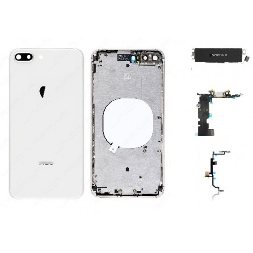 look for 143f1 156b0 iPhone 8 Housing with Back Glass cover, Charging Port and Power Volume Flex  Cable [White][Aftermarket]