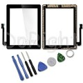 iPad 3 Touch Screen with Home Button and Adhesive Tape attached [Black] [High Quality]