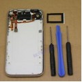 iPhone 3GS back cover with top flex and charging dock flex cable [White]