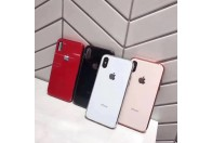 Luxurious shockproof TPU bumper toughened glass back case for iPhone 7/8