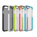 Dual Color TPU Soft Case for Iphone 5 [Clear Black]