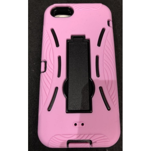 pretty nice c410b d6db6 Heavy Duty Tough Hard Case with Stand For iPhone 5/5S/SE [Pink]