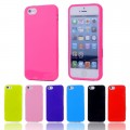Soft TPU Rubber Jelly Gel Slim Phone Case for iPhone 5C [Black]