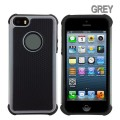 Heavy Duty Tough Case for iPhone 5S/5/SE [Grey]
