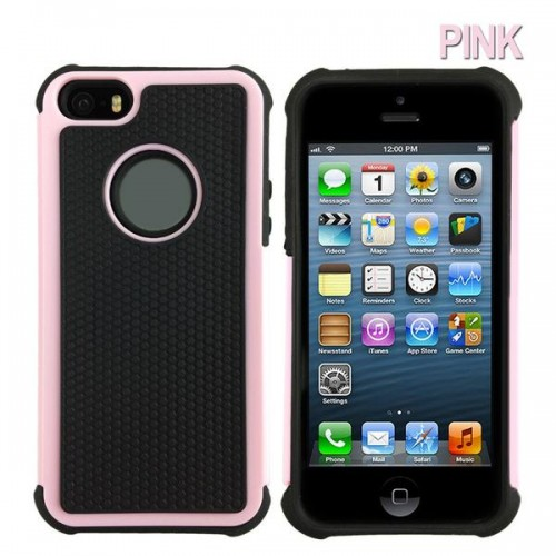the best attitude a9559 84edb Heavy Duty Tough Case for iPhone 5S/5/SE [Pink]