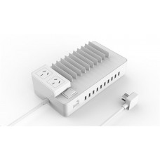 AeroCool ASA ChargingStation ASA ChargingStation 10 USB ports Max 10A and 2 outlets White ACAC-SS2A2AA-21