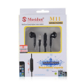 Mosidun M11 Stereo Headset Luminous Wire In-ear Earphone With Mic [Black]