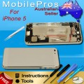 iPhone 5 Housing with charging port and power volume flex cable[White]