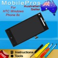 HTC 8X C620e LCD and touch screen assembly