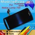 Nokia 700 LCD and Touch Screen Assembly [Black]