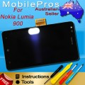 Nokia Lumia 900 LCD and Touch Screen Assembly with frame [Black]