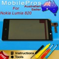Nokia Lumia 820 touch screen with frame [Black]