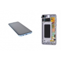 Samsung S10  LCD and Touch Screen Assembly with frame [Blue]